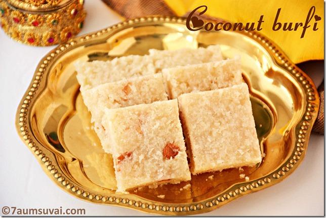 Coconut burfi / Thengai burfi