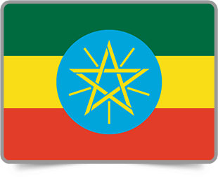 Ethiopian framed flag icons with box shadow