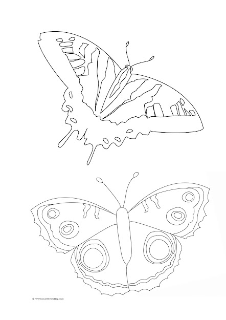 Coloring Page With Butterflies