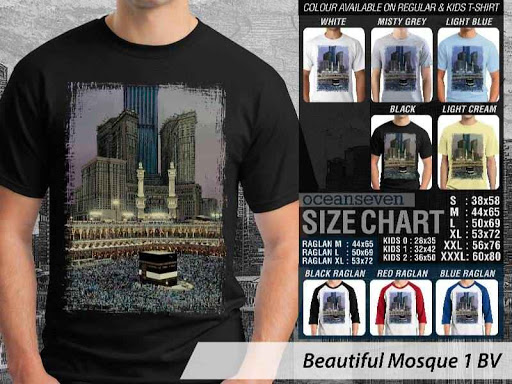 Kaos Muslim Islam Beautiful Mosque 1 distro ocean seven