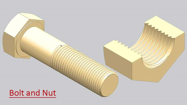 Siemens Nx Tutorial - Bolt and Nut with creation of thread manually