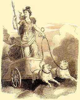 Freya In Her Chariot Drawn By Cats, Asatru Gods And Heroes