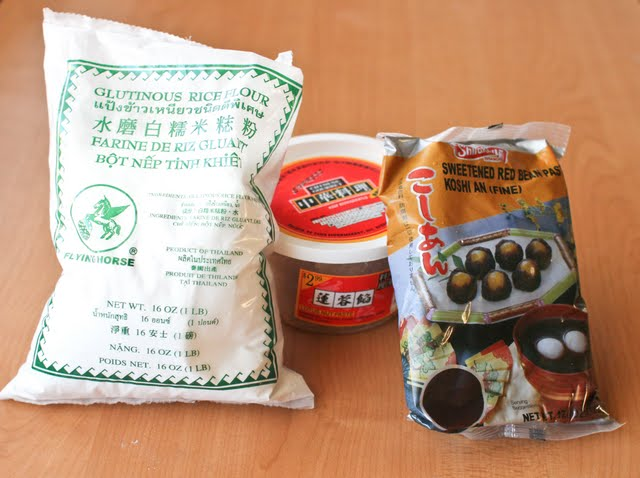 photo of the ingredients to make mooncakes