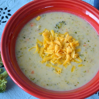 Healthy Broccoli Cheese Soup