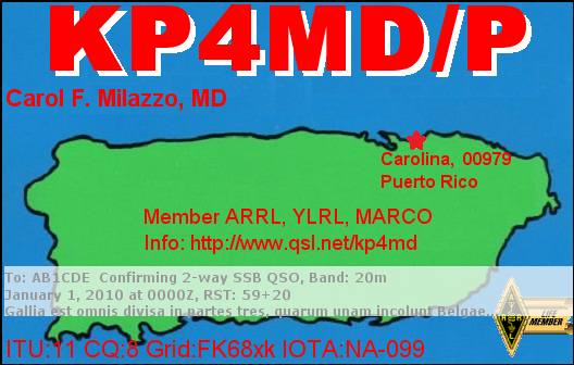 KP4MD/P Portable in Puerto Rico