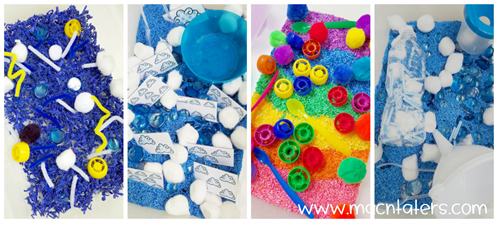 Weather THemed Sensory Bins