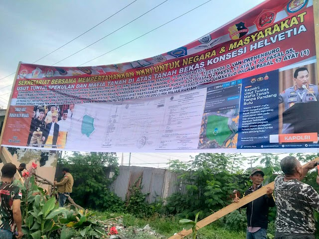 Usut Tuntas Backing Mafia Tanah Helvetia, Tanah Pertiwi Milik Siapa??