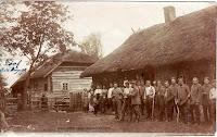 Group of pioneers from 2 Res. Komp. Pion. Batl.33 in the village Biskupice