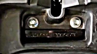 Letak Nomor Rangka dan Nomor Mesin Nex Crossover
