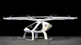 Flying taxi Volocopter in Dubai
