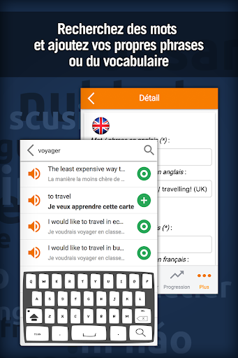 Screenshot for Apprendre l'Anglais rapidement - MosaLingua in Hong Kong Play Store