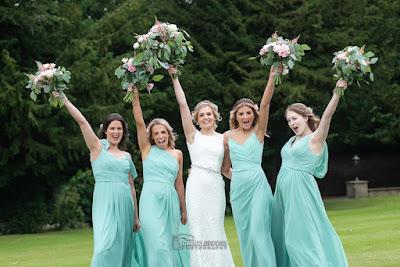 Bridesmaids having some fun!