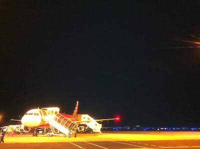 関空に着いた飛行機