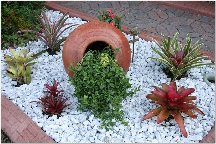 Landscaping Stone Chips : Southeast florida garden evolvement front finished