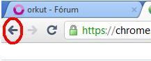 botão voltar google chrome bugado