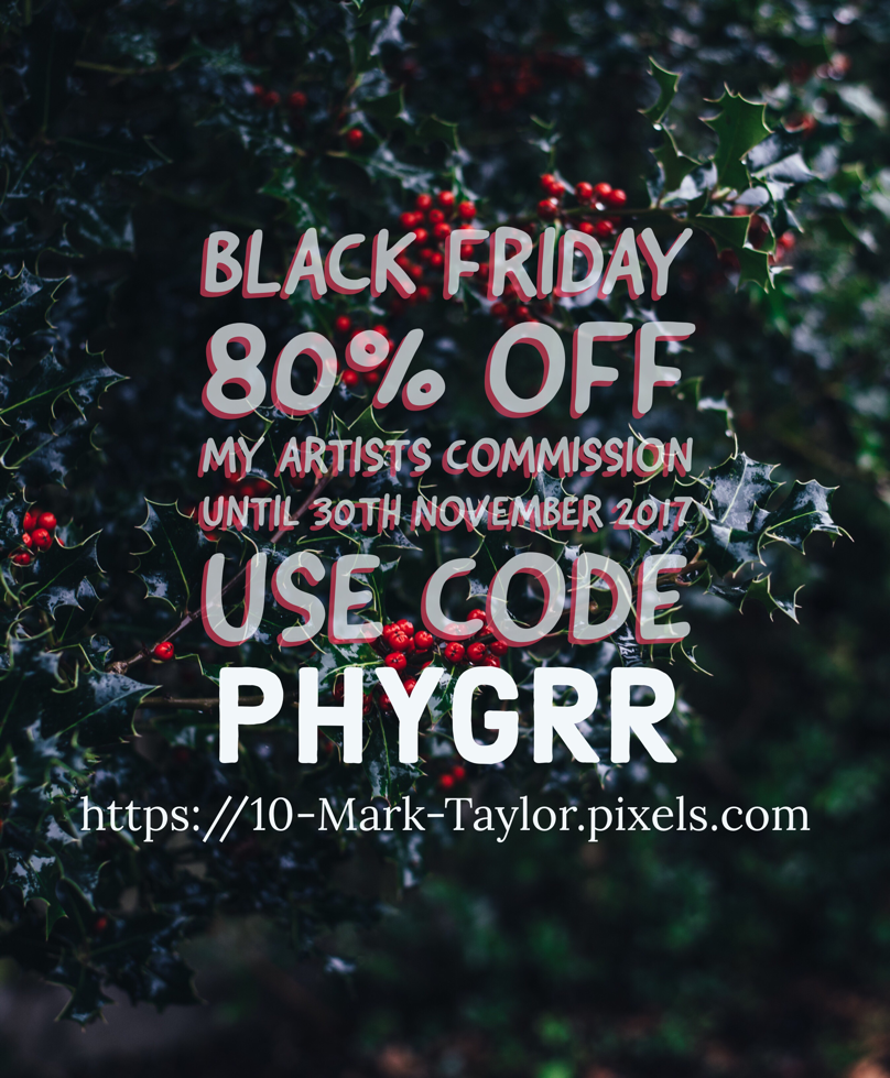 Black Friday art sale from Mark Taylor Fine Art America and Pixels