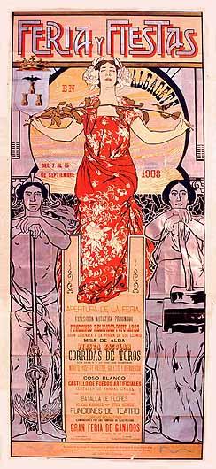 Cartel Feria Albacete 1908