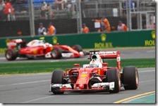 Le due Ferrari nelle qualifiche del gran premio d'Australia 2016