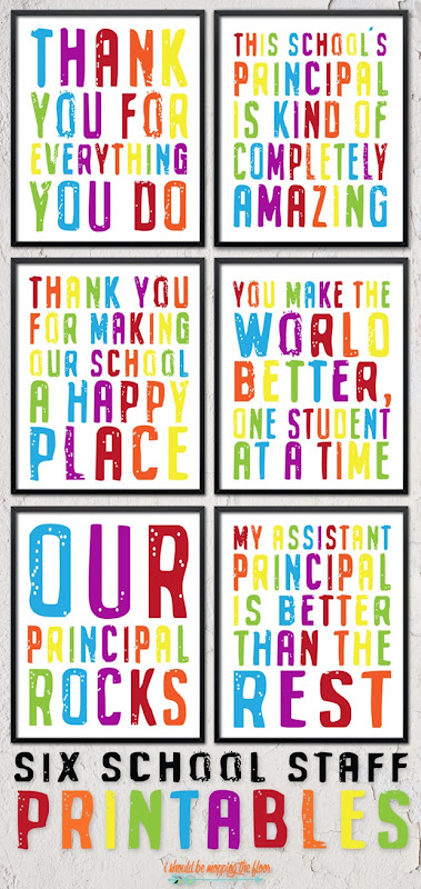 school appreciation printables