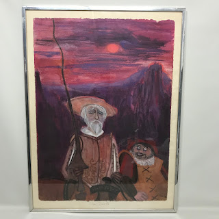Signed Pastel of Don Quixote