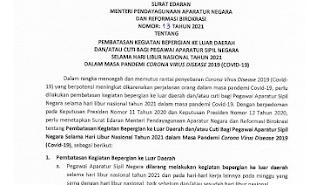 Menteri PANRB Keluarkan Peraturan Terbaru Pembatasan Mobilitas dan Cuti Bagi ASN