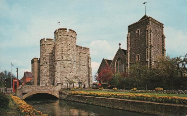 river and medieval entry to Canterbury