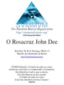 Cover of Dr RD Pizzinga's Book Public Monography O Rosacruz John Dee Portuguese Version
