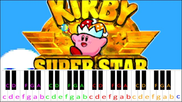 Gourmet Race (Kirby Super Star) ~ Piano Letter Notes