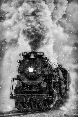 Polar Express to the North Pole by Tammy Scott - Transportation Trains ( steam train, locomotive, historical, steam, trains, transportation )