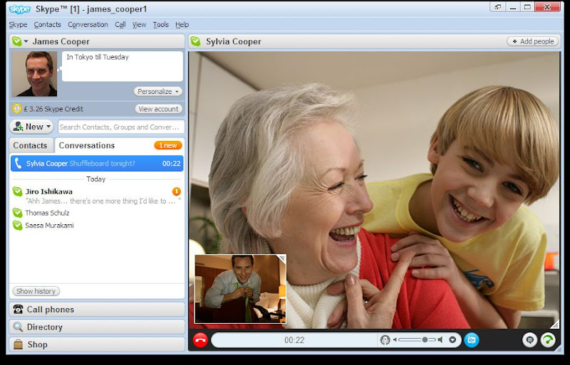 Screenshot of Skype v.6.7.0.102 Desktop Chat Client PC Software Free Download at Alldownloads4u.Com