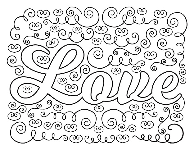 Love You Coloring Pages To Print  Adult Love You Coloring Page  Moreover Handwriting
