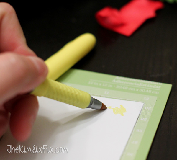 What do you do if you need a special color vinyl and don't have it?  You can use permanant markers and white vinyl