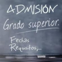 Proceso Admisión CF Grado Superior