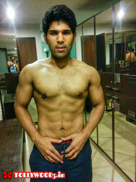 Allu Sirish six pack body
