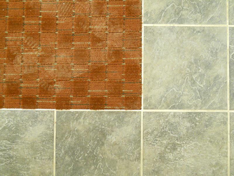 Basement carpet and tile