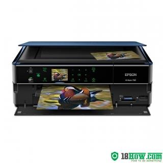 How to reset flashing lights for Epson Artisan 720 printer