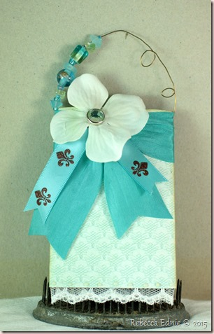 teal gift card holder