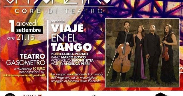 Viale en El Tango: in arrivo a Roma