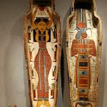 Egypte Thèbes-Ouest (?) - Cercueil d'Isetemkheb (début de l'époque saïte, XXVIe dynastie, vers 664-500 avant J.-C. Bois entoilé, stuqué et peint)