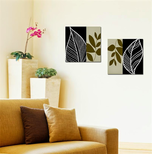 abstract leaf wall art Canvas Prints for office/home de