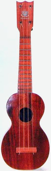 Royal hawaiian hotel Soprano by the hawaiian mahogany company at Lardy's Ukulele Database