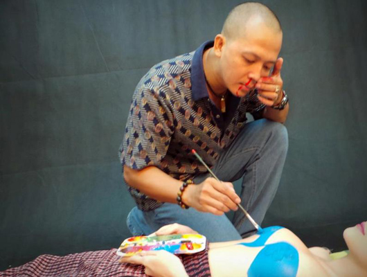 FPT Online sắp tung ảnh body painting quảng bá game 7