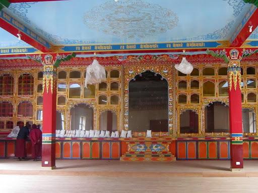 Altar in new gompa at Rachen Nunnery, Tsum, Nepal, September 2012. Photo courtesy of Kopan Monastery.