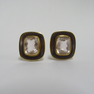 18 K Gold & Morganite Earrings