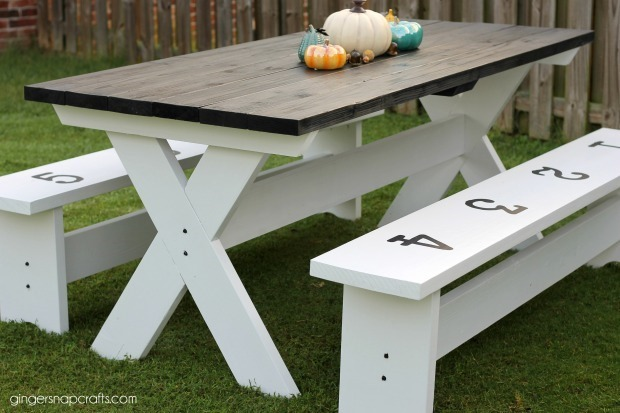 picnic table at GingerSnapCrafts.com