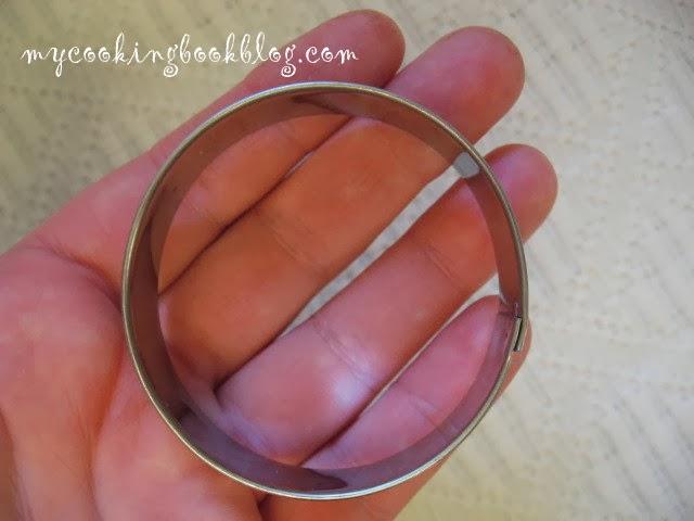 кръгла форма за рязане на бисквити