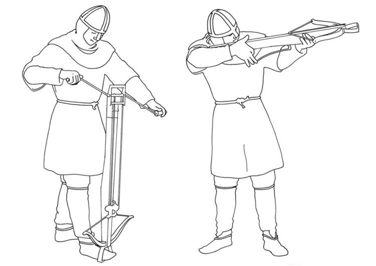 Archer with bayonet coloring pages