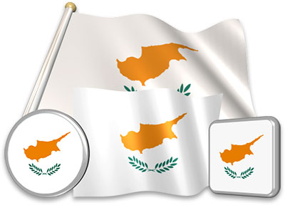 Cypriot flag animated gif collection