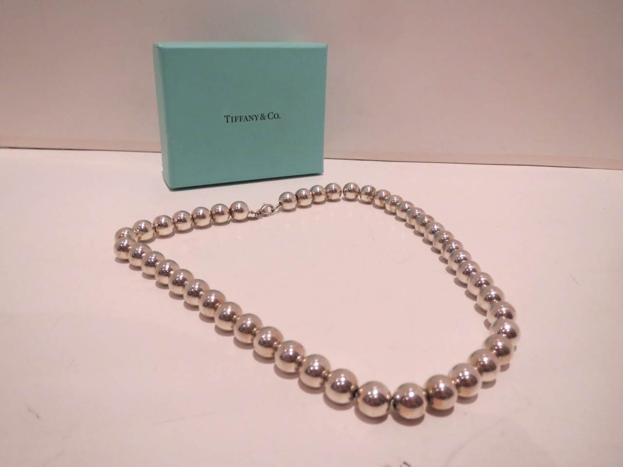 Tiffany & Co. Sterling Silver Ball Necklace