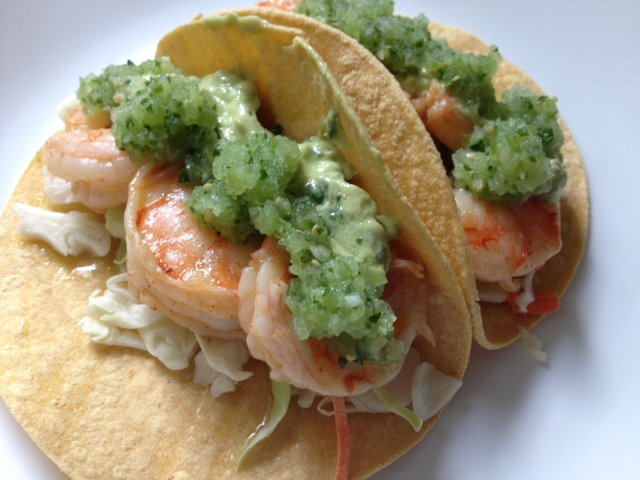 Healthy home revolution grilled shrimp tacos with avocado crema and httpfoodnetworkrecipesfood network kitchenschipotle shrimp taco with avocado salsa verde recipeindexml forumfinder Images